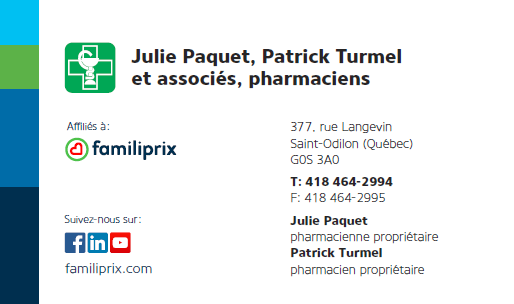 Julie Paquet, Patrick Turmel et Ass. Pharmaciens